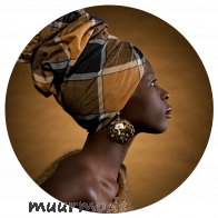 Behangcirkel African woman