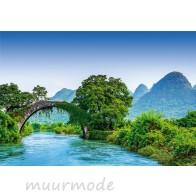 Fotobehang Bridge crosses a River in China