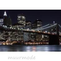 Vlies fotobehang Lichtjes Brooklyn Bridge