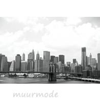 Vlies fotobehang New York in zwart-wit