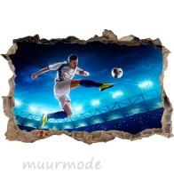 3D Muursticker voetballer