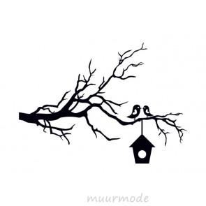Interieursticker Verliefde vogels