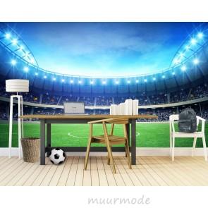 fotobehang Voetbalveld