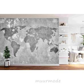 Vlies fotobehang Wereldkaart vintage