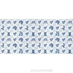 Vlies fotobehang Delfts blauwe tegels