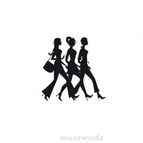 Interieursticker Shoppende meiden
