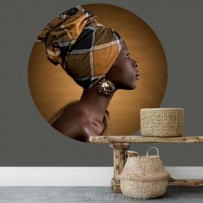 Behangcirkel African woman