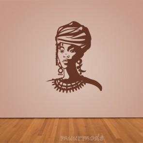 Interieursticker Afrikaanse vrouw
