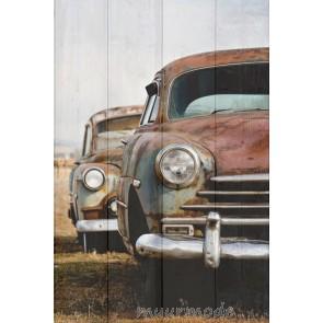 Foto Old car op hout