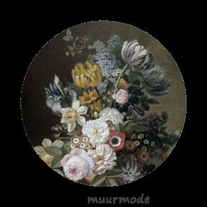 Behangcirkel Bloemenpracht