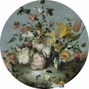 Behangcirkel Boeket bloemen