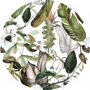 Behangcirkel Botanische bloemen