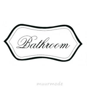 Deursticker Bathroom