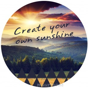 Ronde sticker Sunshine