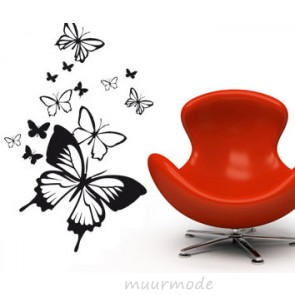 Interieursticker Fladderende Vlinders