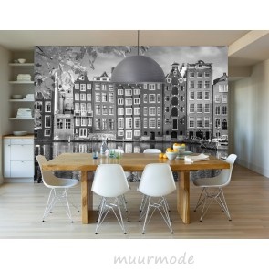 Fotobehang Amsterdamse huisjes