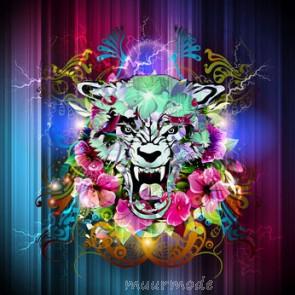 Vlies fotobehang graffiti tijger
