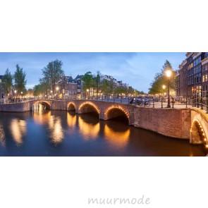 Vlies fotobehang Amsterdamse kanalen