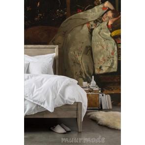 Vlies fotobehang Meisje in witte kimono