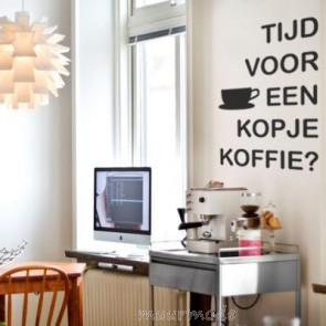 Tekststicker Koffietijd