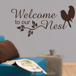 Tekststicker Welcome to our nest
