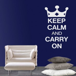 Tekststicker Keep calm and carry on