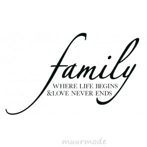 Interieursticker Familie