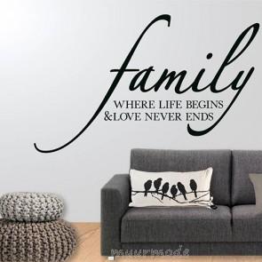 Tekststicker familie