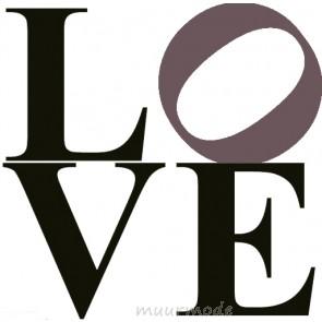 Interieursticker Love (2-kleurig)