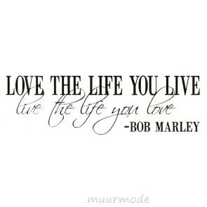 Tekststicker Citaat Bob Marley