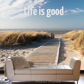 fotobehang met tekst life is good
