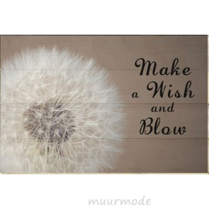 Foto op Hout Make a wish