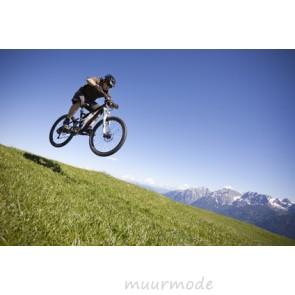 Vlies fotobehang Mountainbike