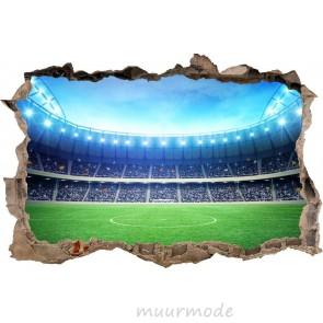 3D Muursticker Voetbalveld