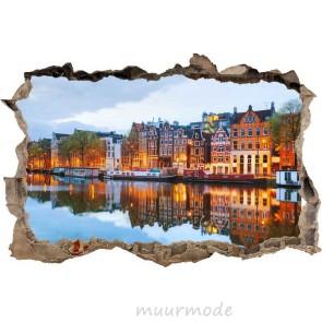 3D Muursticker Amsterdam