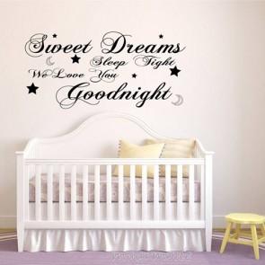 Tekststicker Sweet dreams goodnight