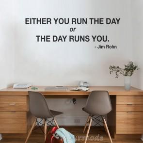 Tekststicker Run The Day