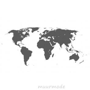 Vlies fotobehang Wereldkaart Grijs
