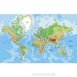 Vlies fotobehang Grote wereldkaart 1