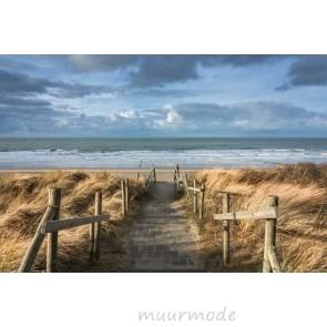 Vlies fotobehang Zicht op de Noordzee