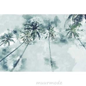 Vlies fotobehang Palmbomen aquarel