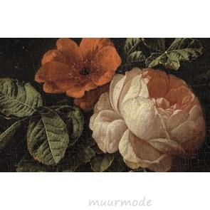 Canvas schilderij Stilleven met rozen