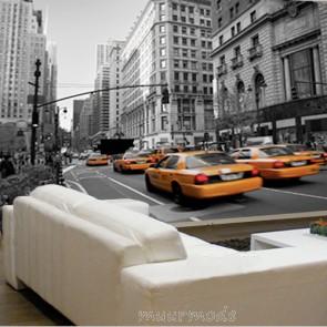 typisch straatbeeld in Manhattan