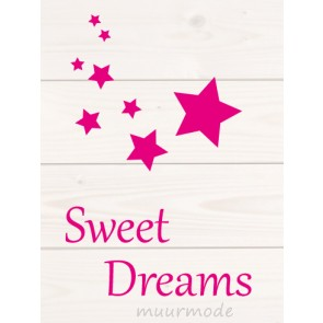 Sweet dreams op Hout Roze