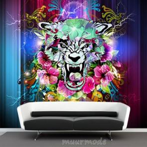 graffiti behang tijger