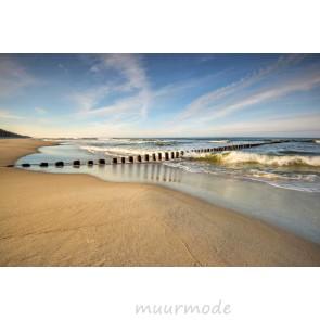 Tuinposter Verlaten strand