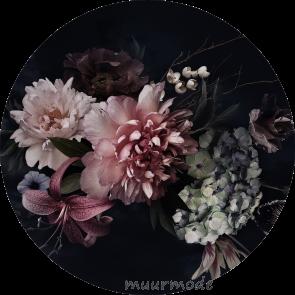 Behangcirkel Vintage flowers