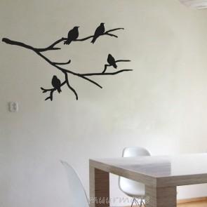 Muursticker Tak met vogels