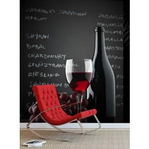 Vlies fotobehang Stilleven met wijnglas