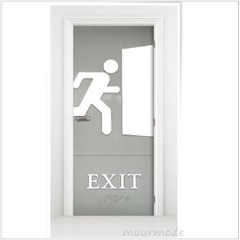 Deursticker Exit